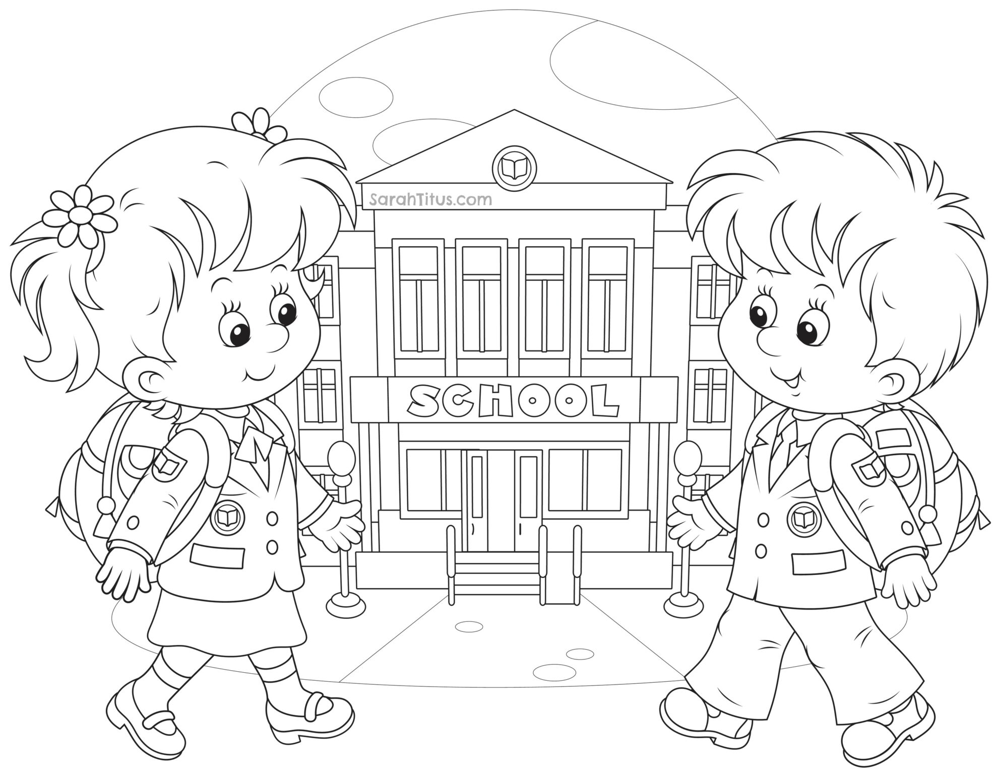 coloring school for kids school drawing at getdrawings free download school kids for coloring