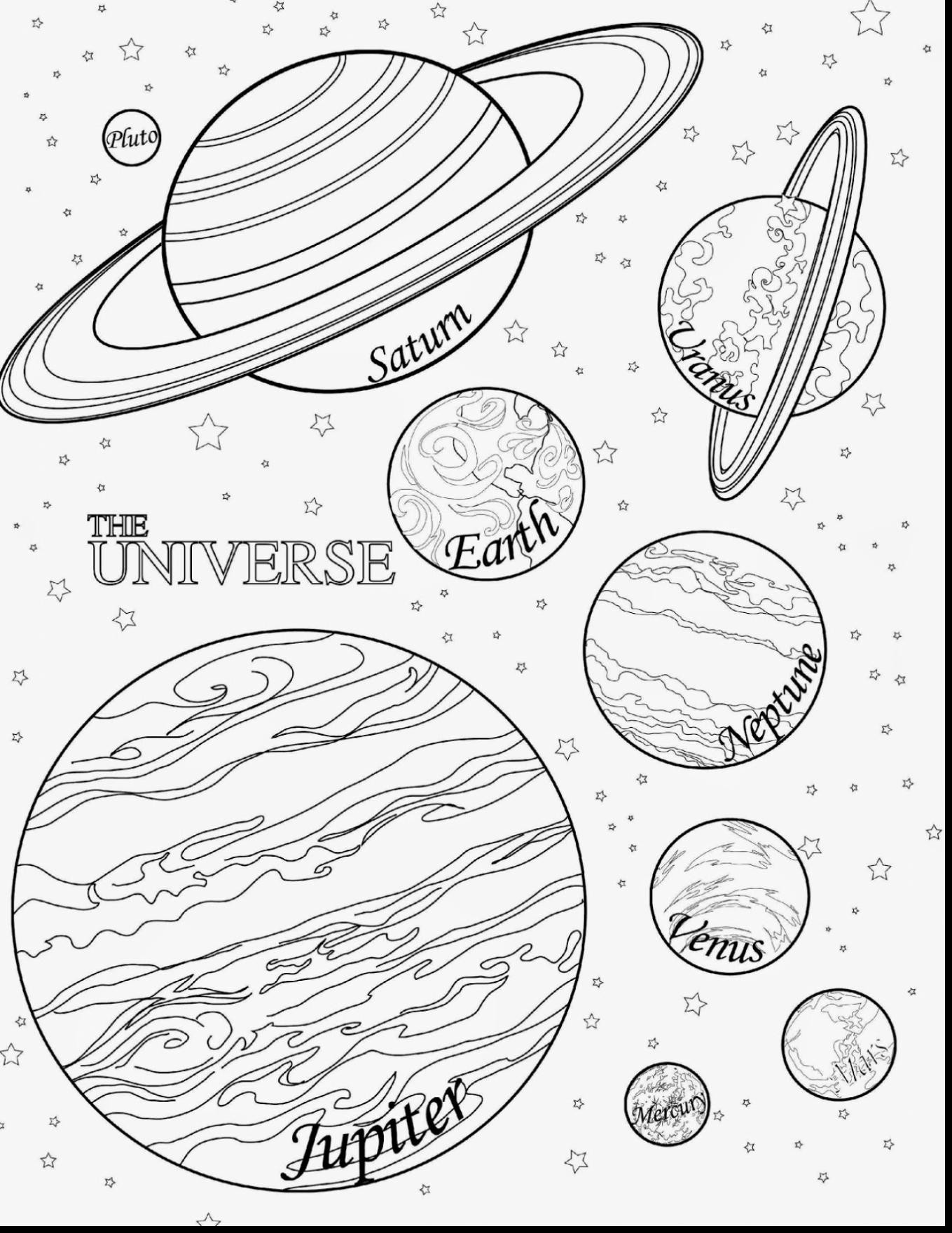 coloring solar system planets drawing solar system line drawing at getdrawings free download solar system planets drawing coloring
