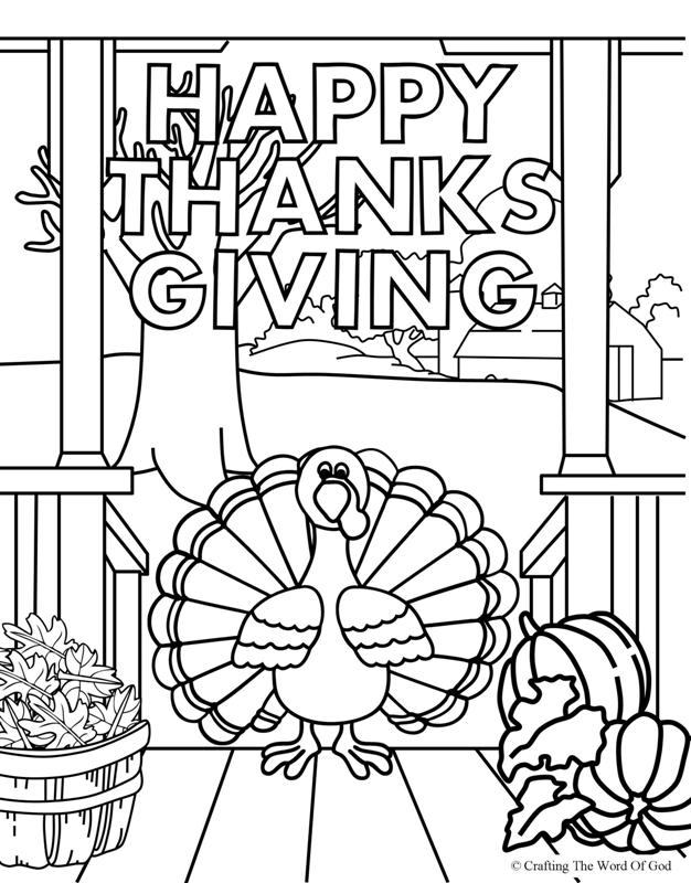 coloring thanksgiving happy thanksgiving 3 coloring page crafting the word of god coloring thanksgiving