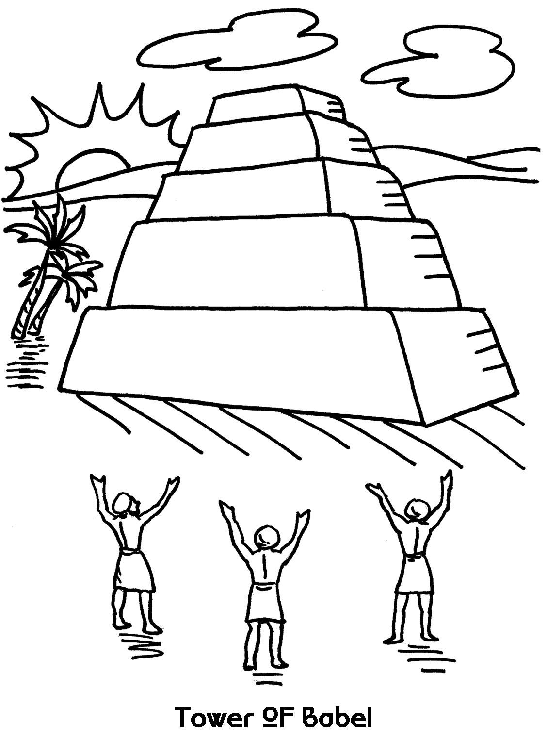 coloring tower of babel for kids tower of babel coloring page homeschool bible learning of coloring tower for kids babel