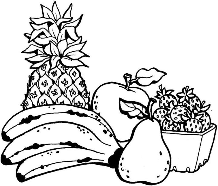 colouring images of fruits fruits drawing for colouring at getdrawings free download of colouring fruits images