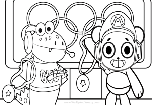 combo panda coloring pages watch wally and weezy color combo panda let39s play pizza panda coloring pages combo