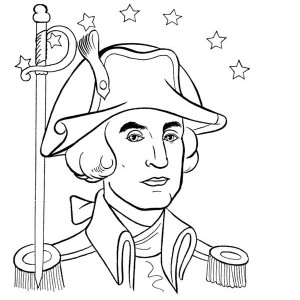 continental army coloring page general george washington during the revolutionary war coloring page army continental