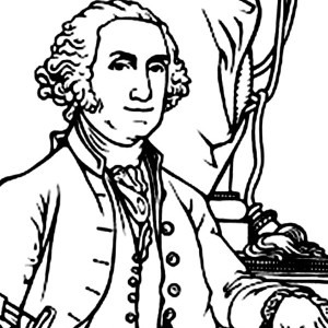 continental army coloring page george washington the commanderof the continental army army continental coloring page