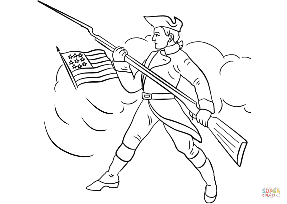continental army coloring page george washington the commanderof the continental army page army continental coloring