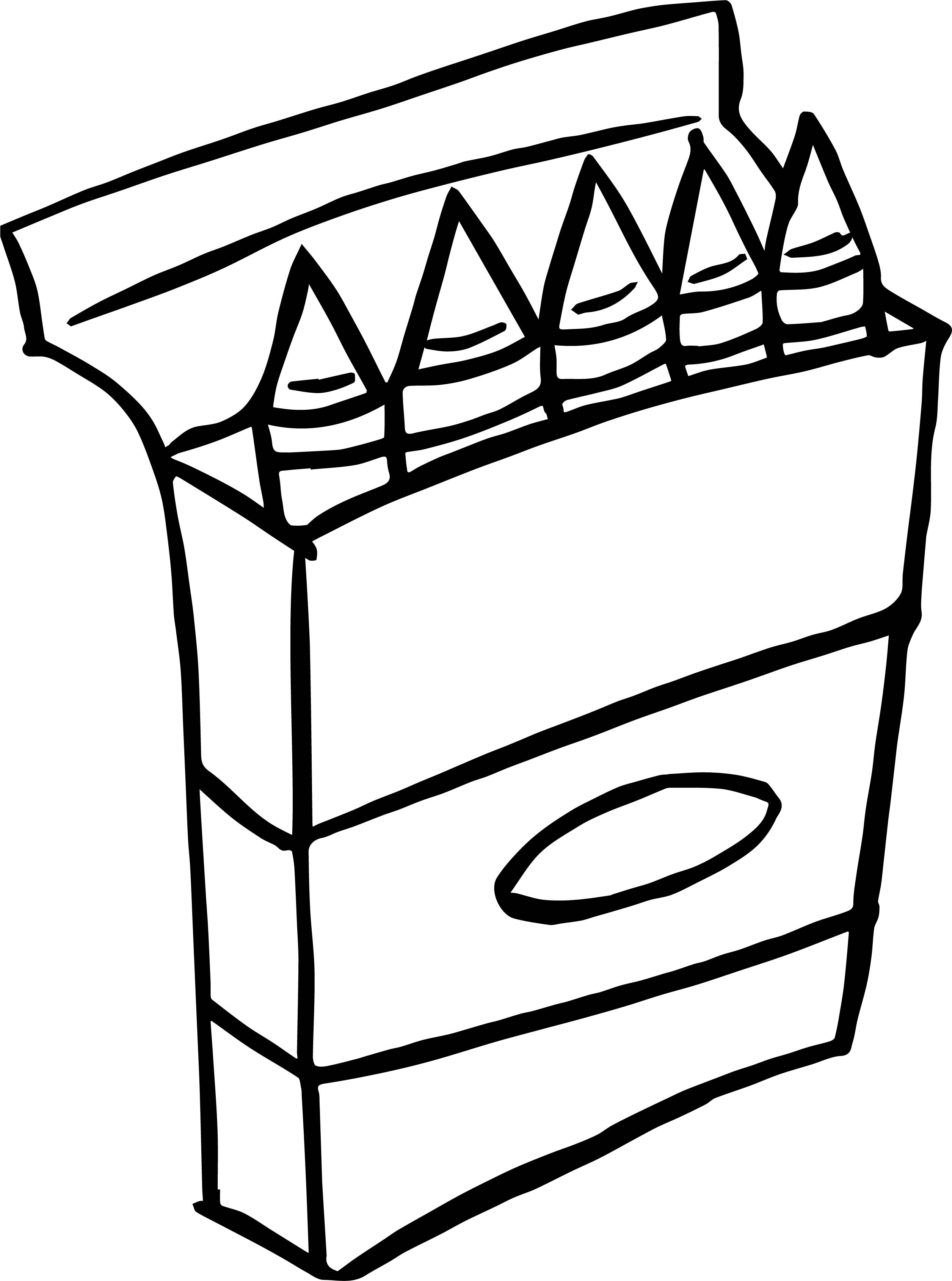 crayon coloring art crayons clipart black and white free download on clipartmag crayon coloring art