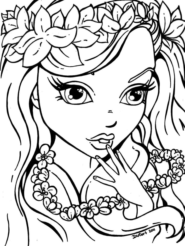 cute girl coloring pages cute coloring pages anime coloring cute girl pages