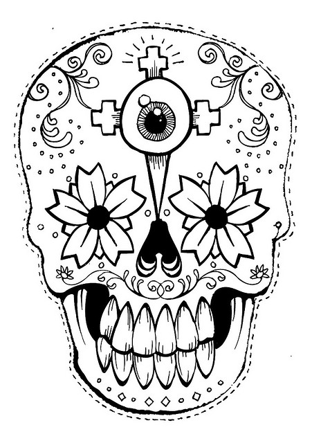 day of the dead template 23 free skull stencil printable templates guide patterns template of dead the day