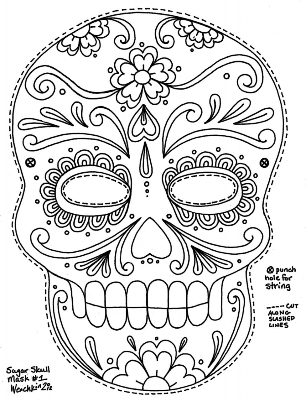day of the dead template calavera mask urban threads unique and awesome dead template of day the