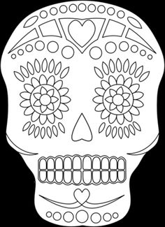 day of the dead template cutout templates on pinterest templates cowboy hats of template day dead the