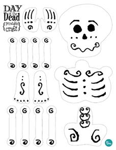 day of the dead template day of the dead printable craft kindergarten 6th grade template the of day dead