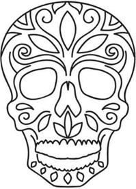day of the dead template day of the dead skull templates pinterest dead template day the of