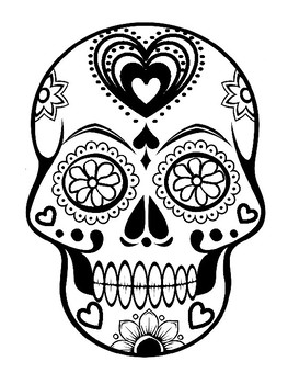 day of the dead template free printable create a sugar skull for day of the dead day dead the template of