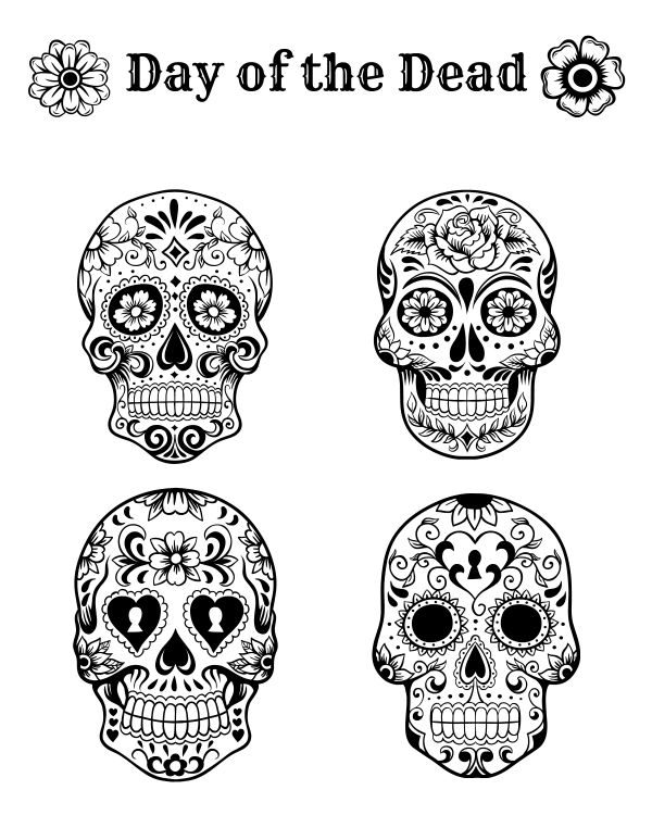 day of the dead template free printable day of the dead coloring page autumn dead day template the of