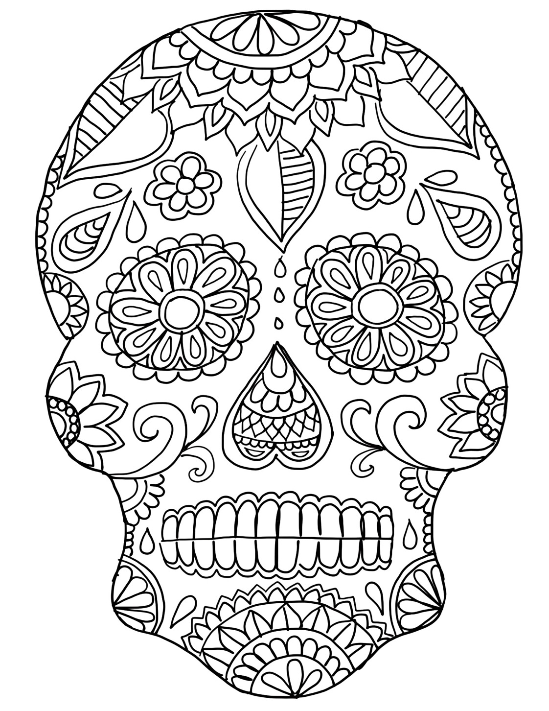 day of the dead template free printable day of the dead coloring pages best template day the of dead