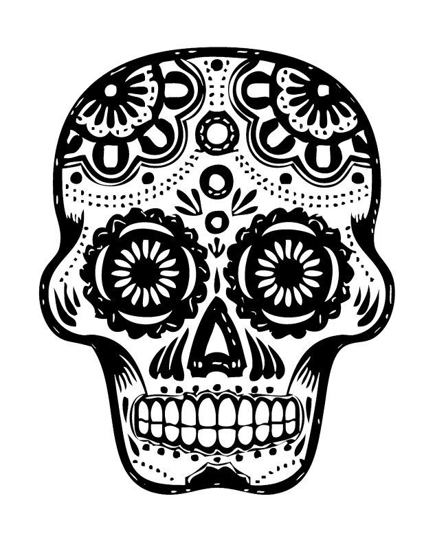 day of the dead template stencil 7 copy kadame726 the day template of dead