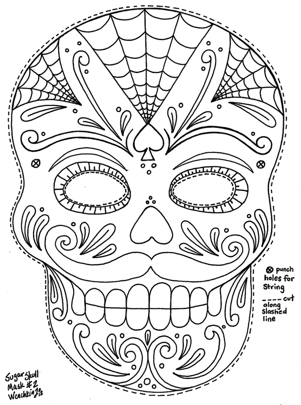 day of the dead template sugar skull template sugar skull coloring page sugar skull the of day template dead
