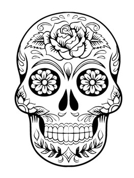 day of the dead template tiki mask template clipartsco of day dead template the