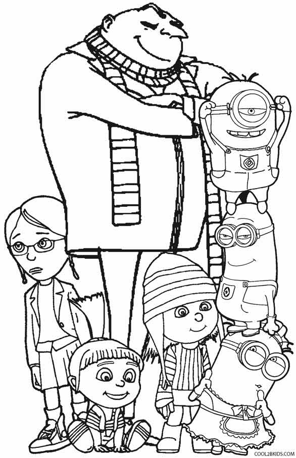 despicable coloring pages printable despicable me coloring pages for kids cool2bkids despicable pages coloring