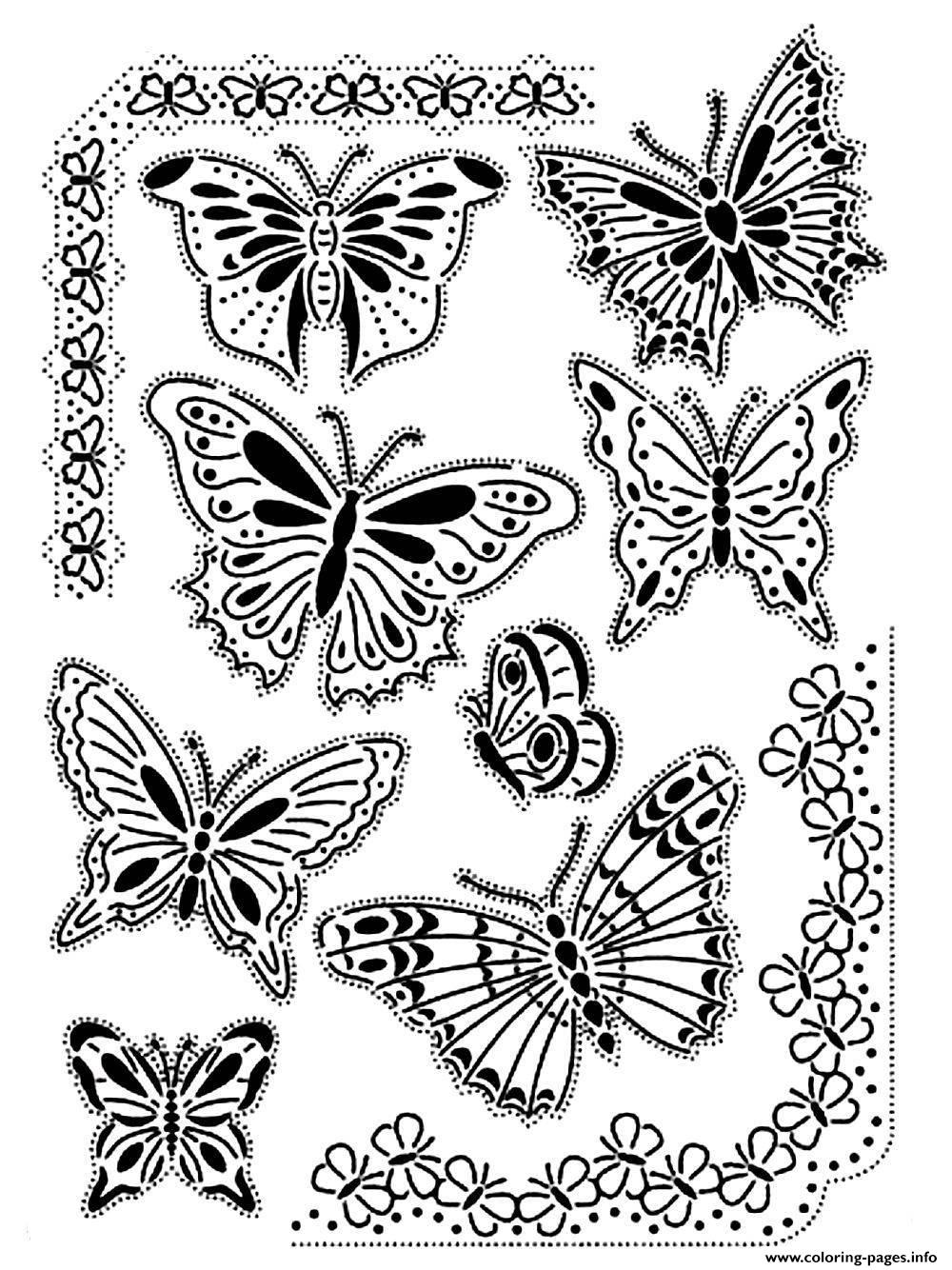difficult printable butterfly coloring pages coloring pages plicated butterfly coloring pages difficult butterfly printable pages coloring