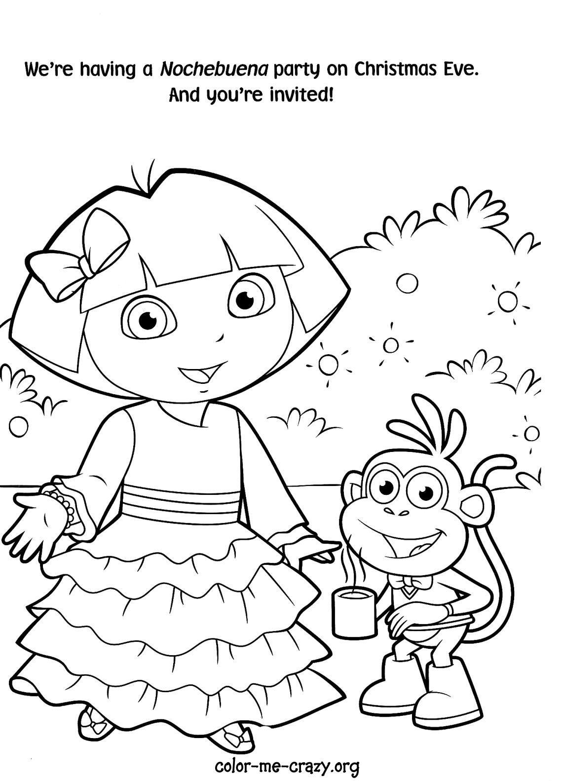 dora coloring pages free free printable dora coloring pages for kids cool2bkids dora free pages coloring
