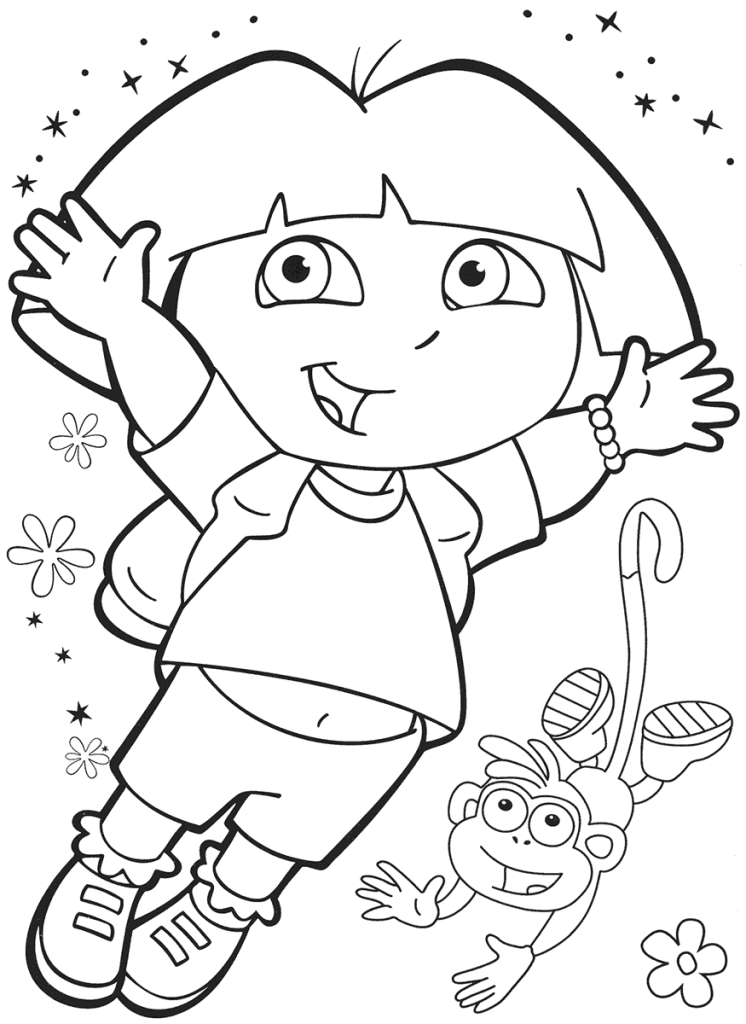 dora coloring pages free printable dora the explorer free coloring pages coloringpages4kidzcom coloring printable free dora pages