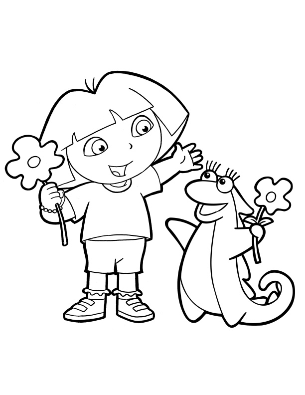 dora coloring pages to print dora coloring pages getcoloringpagescom to dora print pages coloring