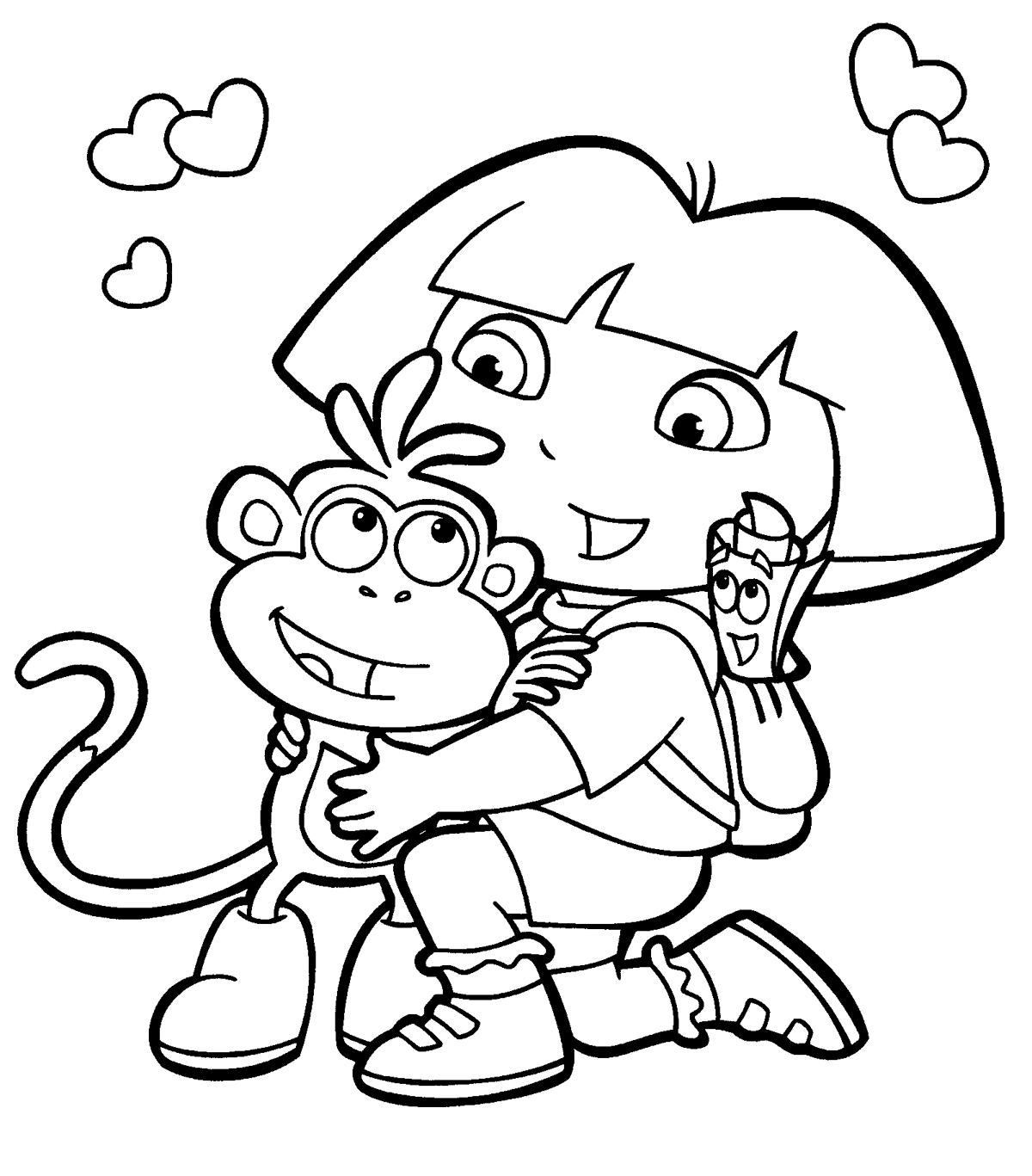dora coloring picture dora coloring pages free printables momjunction picture dora coloring