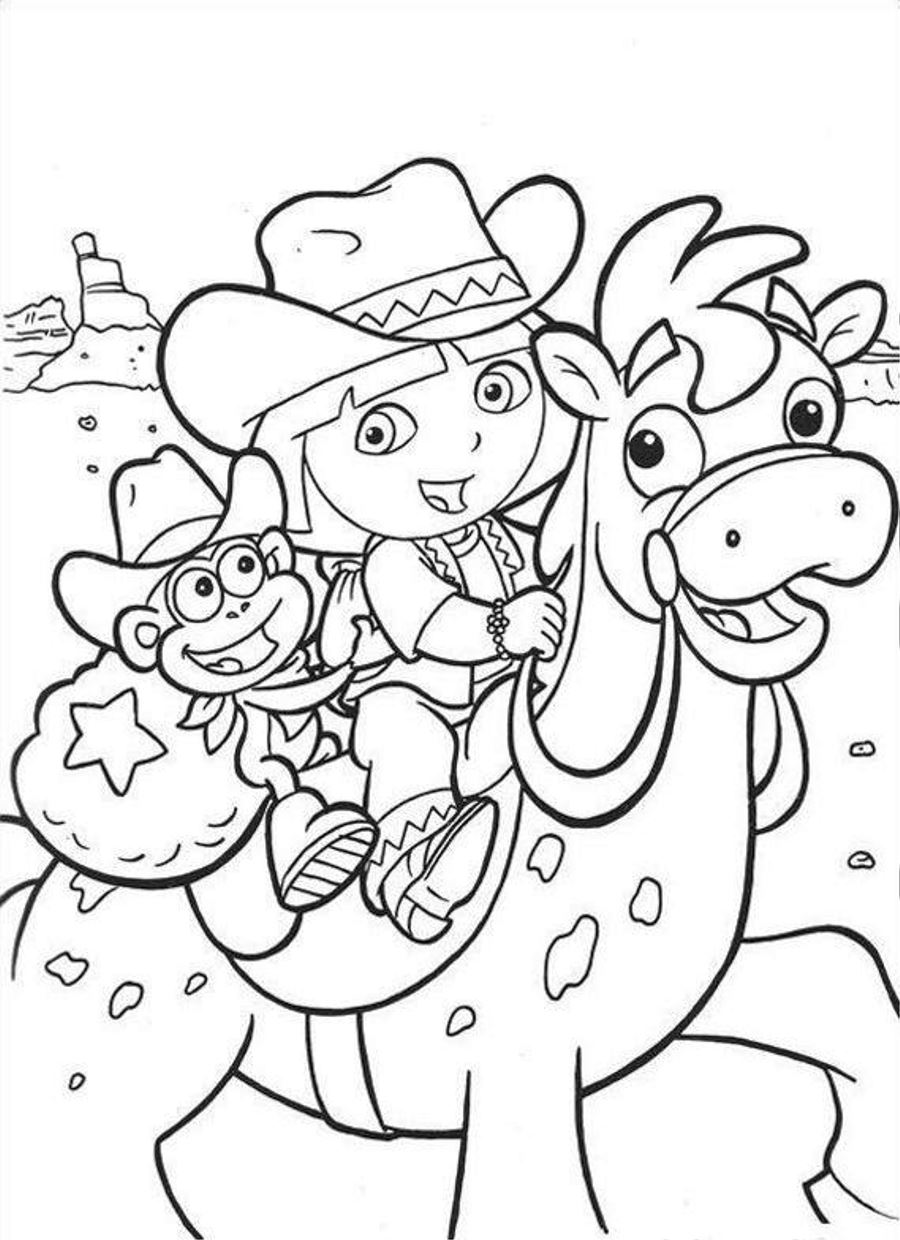 dora coloring pictures dora coloring pages backpack diego boots swiper print dora coloring pictures