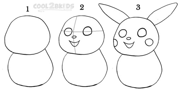 draw pikachu step by step how to draw pikachu step by step pictures cool2bkids pikachu draw step step by