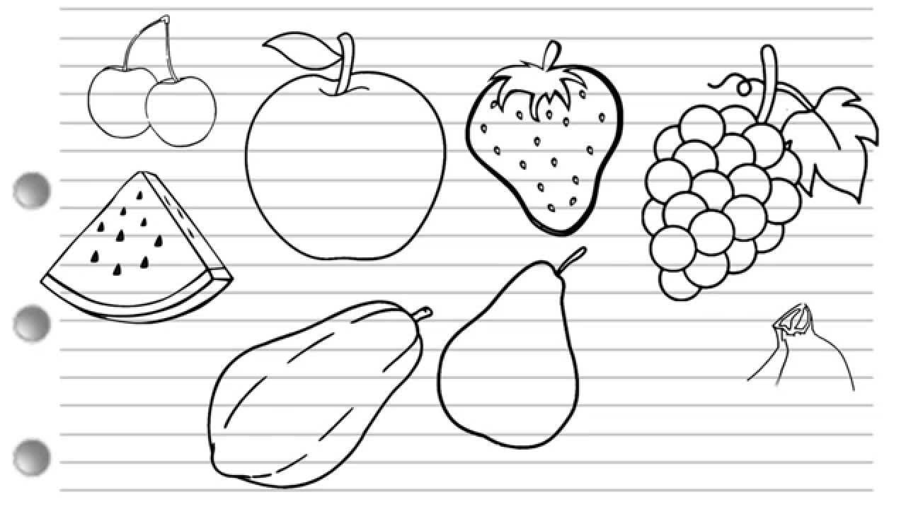 drawing fruit fruits drawing stock illustration download image now fruit drawing