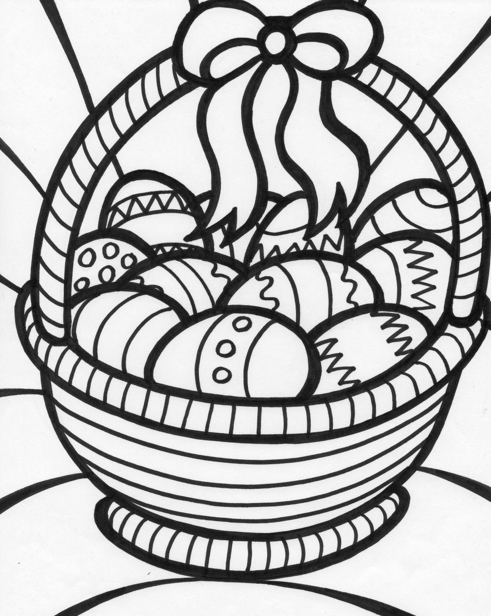 easter basket coloring page 7 easter basket with eggs coloring pages page coloring basket easter