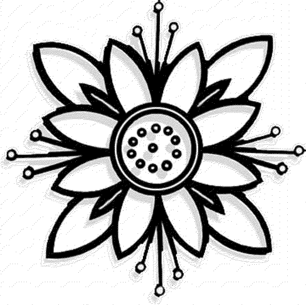 easy coloring pages of flowers easy coloring pages of flowers at getdrawings free download of easy flowers coloring pages