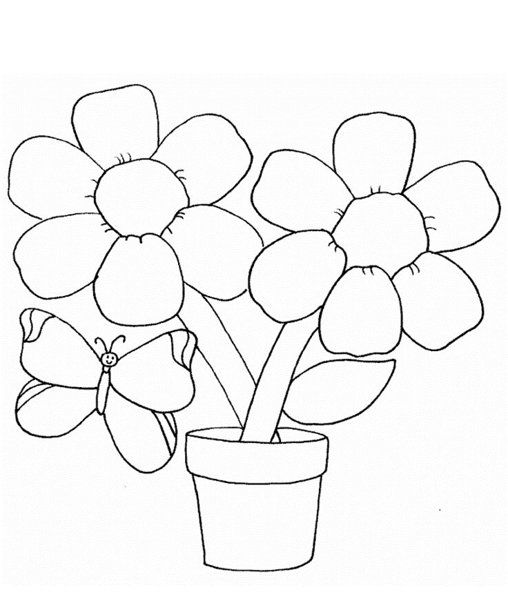 easy coloring pages of flowers easy flower coloring pages coloring home of pages coloring flowers easy