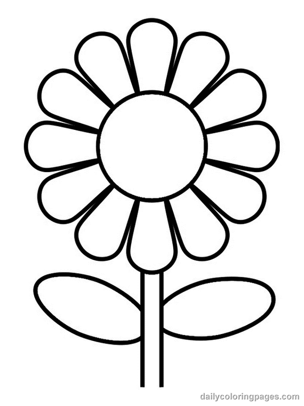 easy coloring pages of flowers easy flower coloring pages coloring home pages coloring of easy flowers