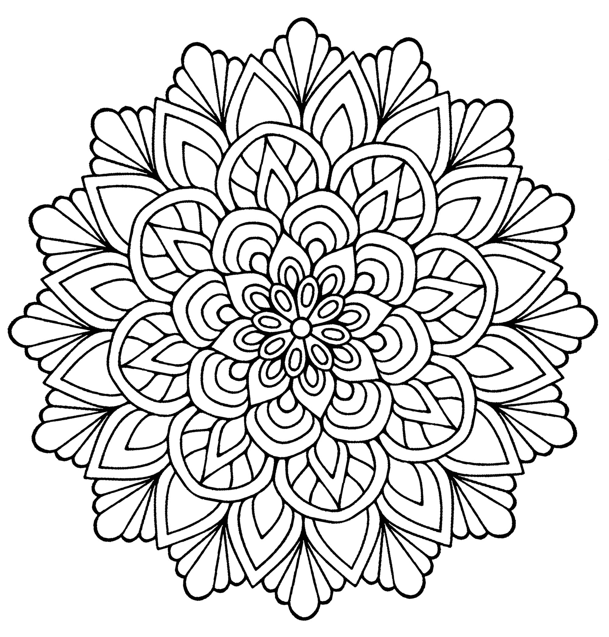 easy coloring pages of flowers easy flower with leaves simple mandalas 100 mandalas of coloring flowers easy pages