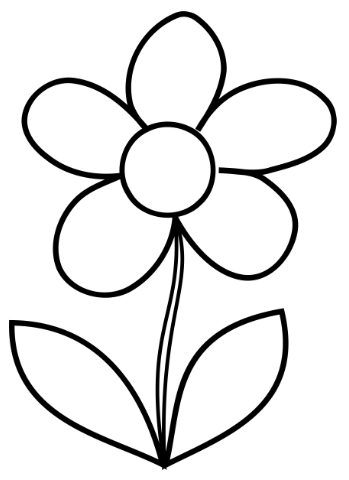 easy coloring pages of flowers simple flower coloring page cute flower of coloring easy pages flowers