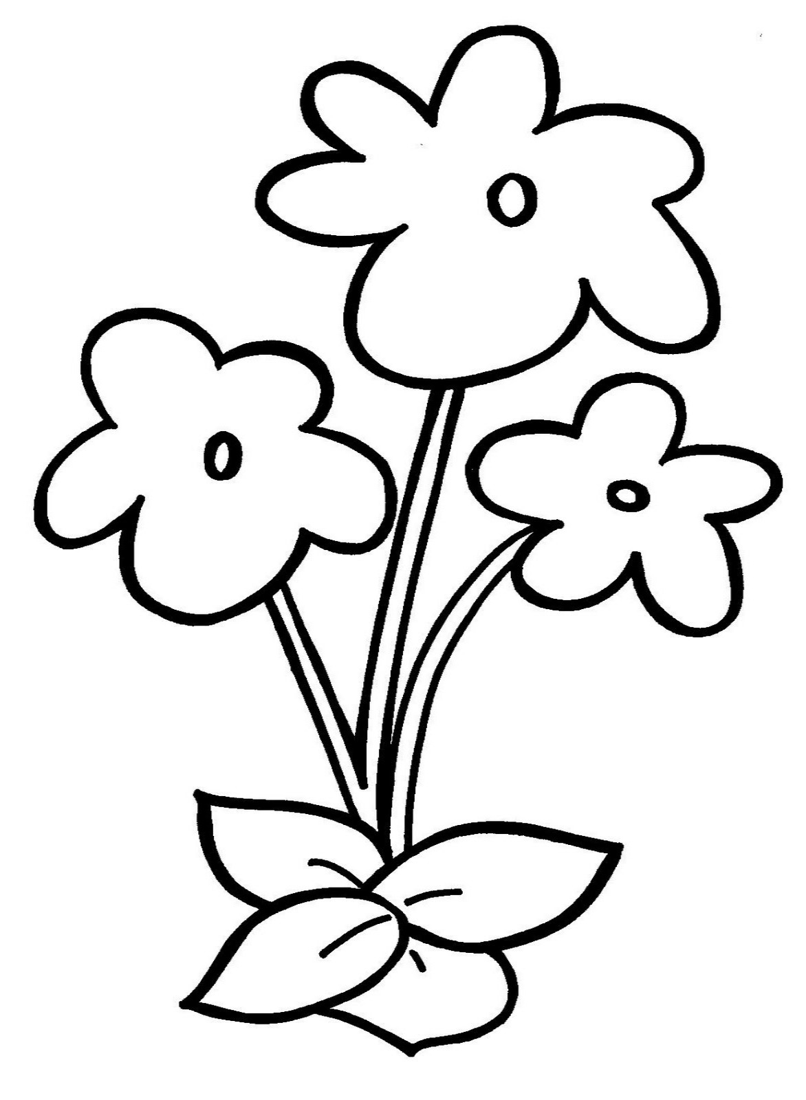 easy coloring pages of flowers simple flower coloring pages clipart best pages coloring easy flowers of