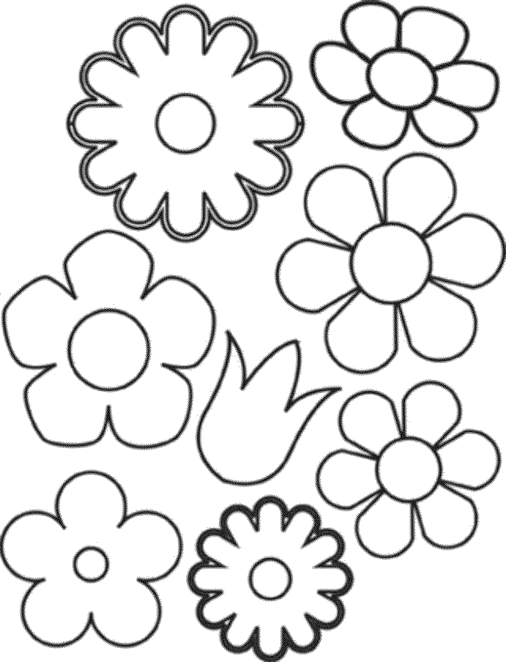 easy coloring pages of flowers simple flower images clipart best of easy coloring pages flowers