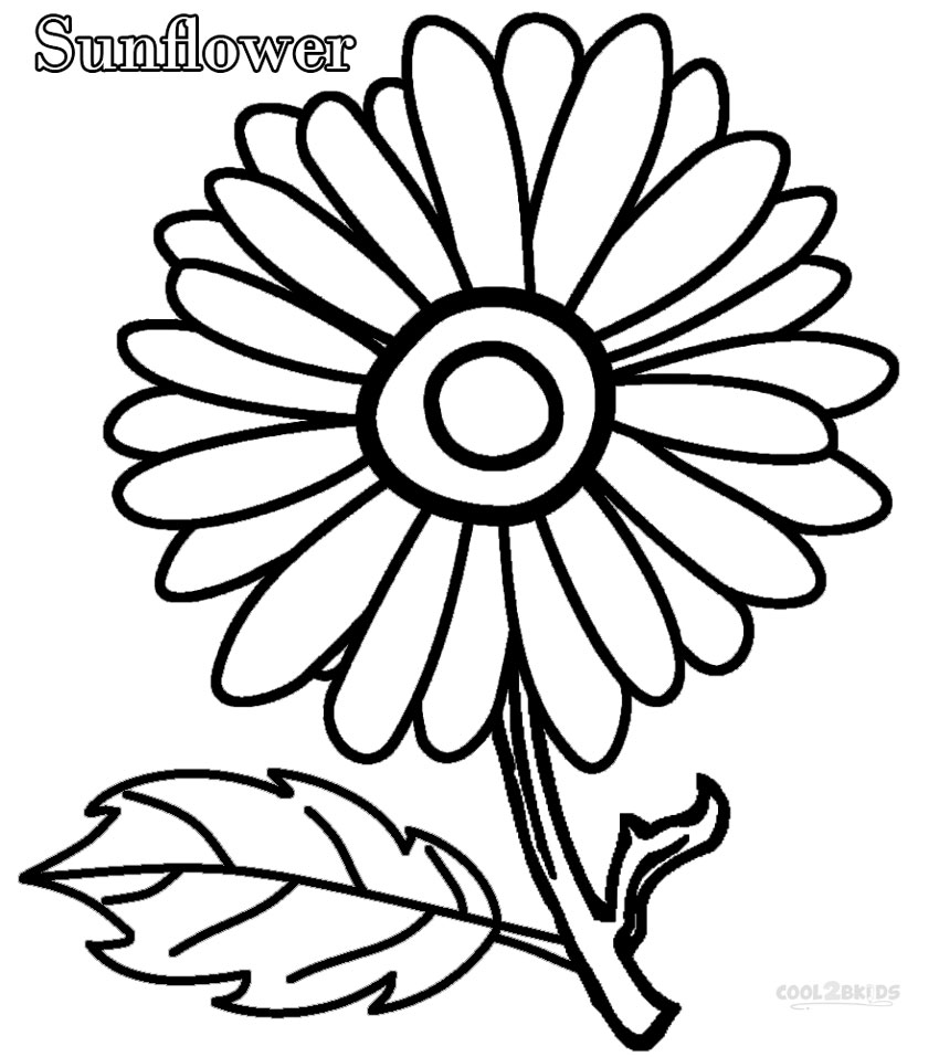 easy coloring pages of flowers sunflower coloring pages to download and print for free flowers easy coloring pages of