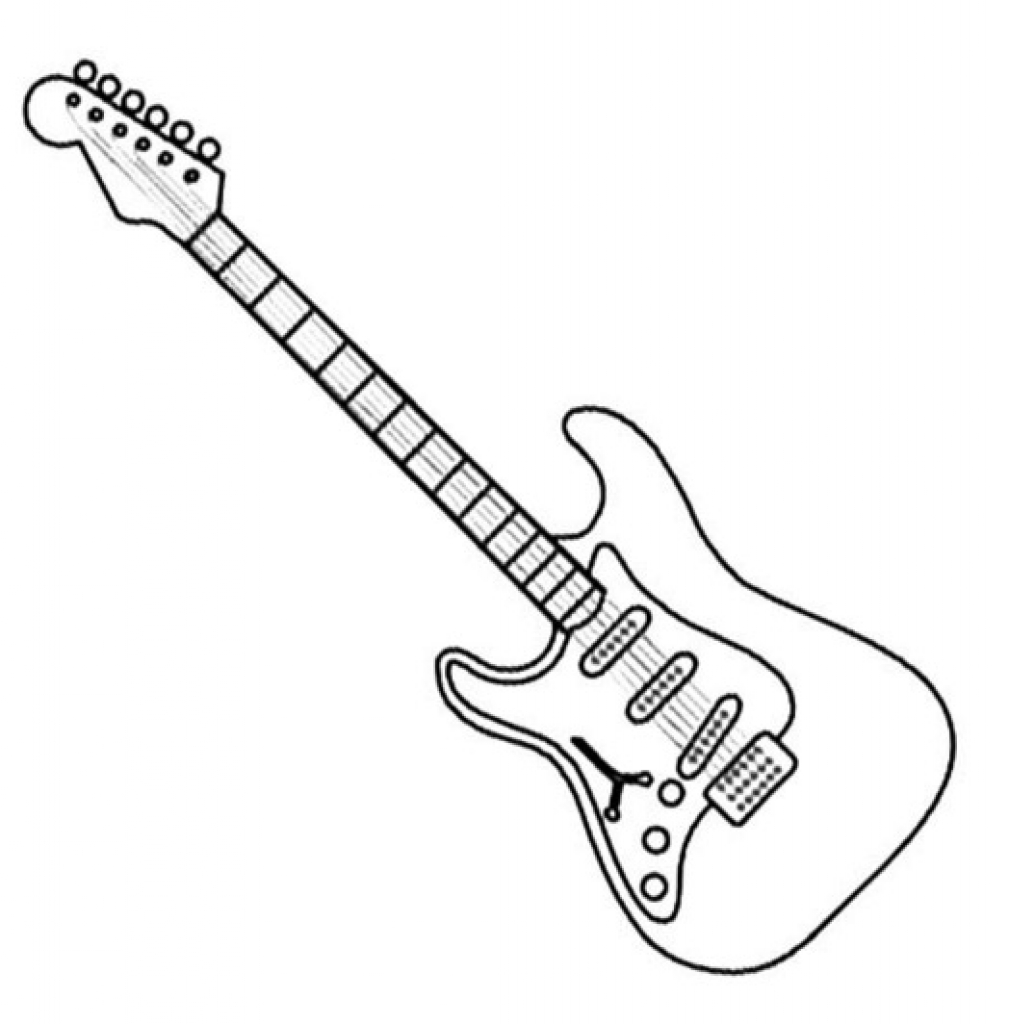 electric guitar coloring page electric guitar outline drawing at getdrawings free download electric coloring page guitar