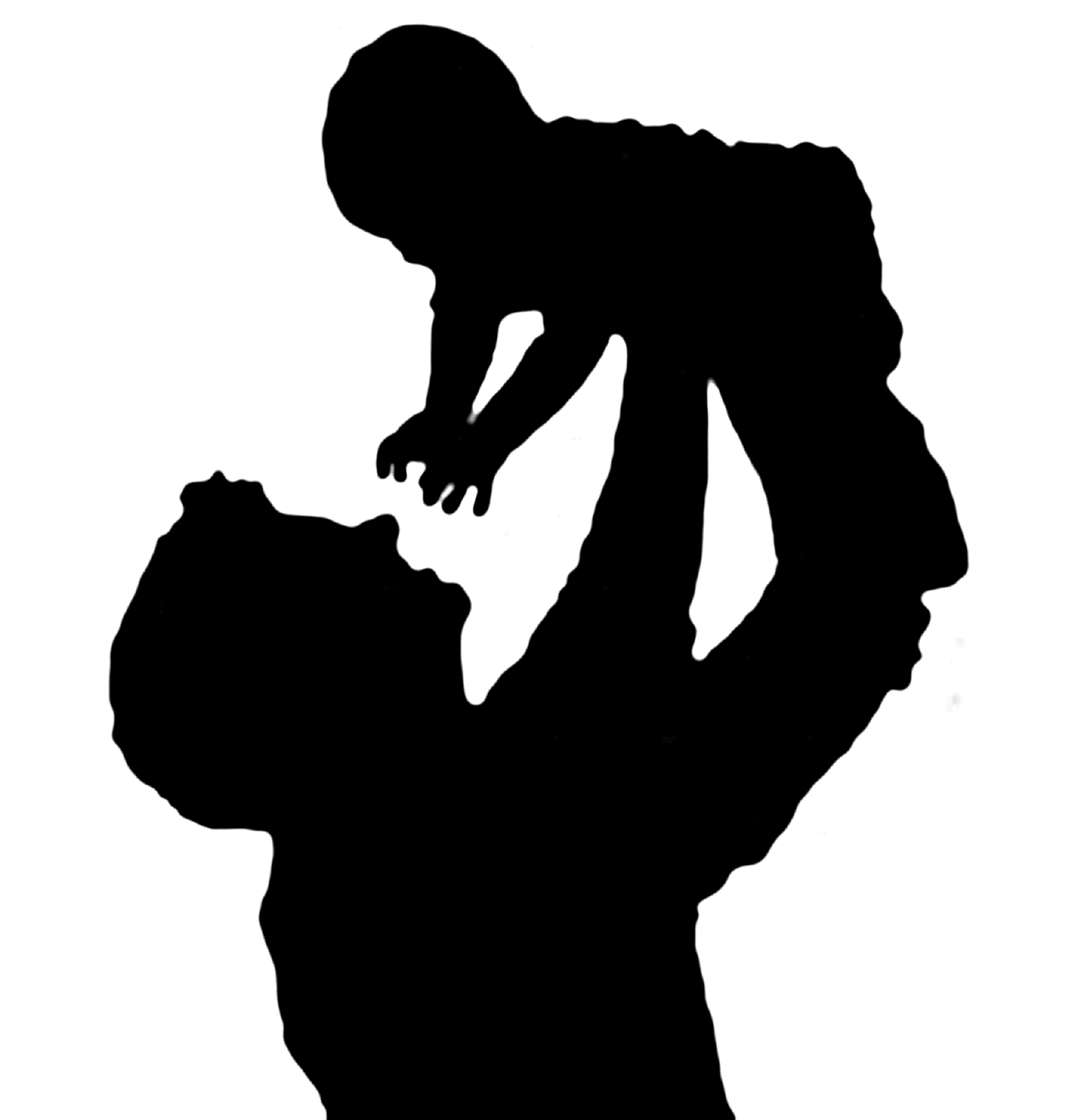 father silhouette custom silhouette print father and children perfect for father silhouette