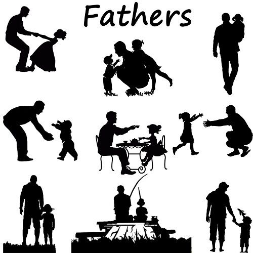 father silhouette die cut outs silhouette father39s day shape x 9 card making father silhouette