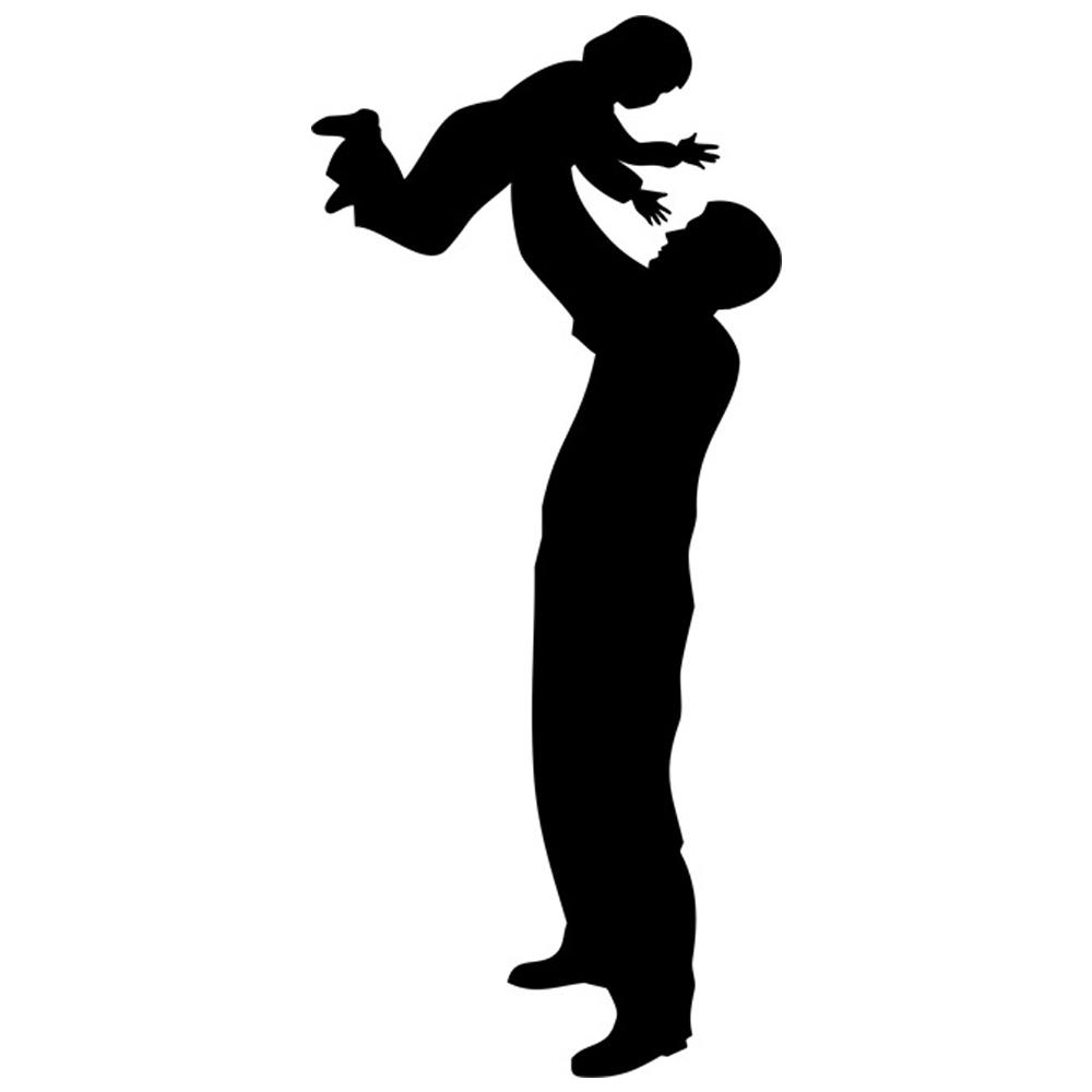 father silhouette father and child silhouette stencil by crafty stencil father silhouette