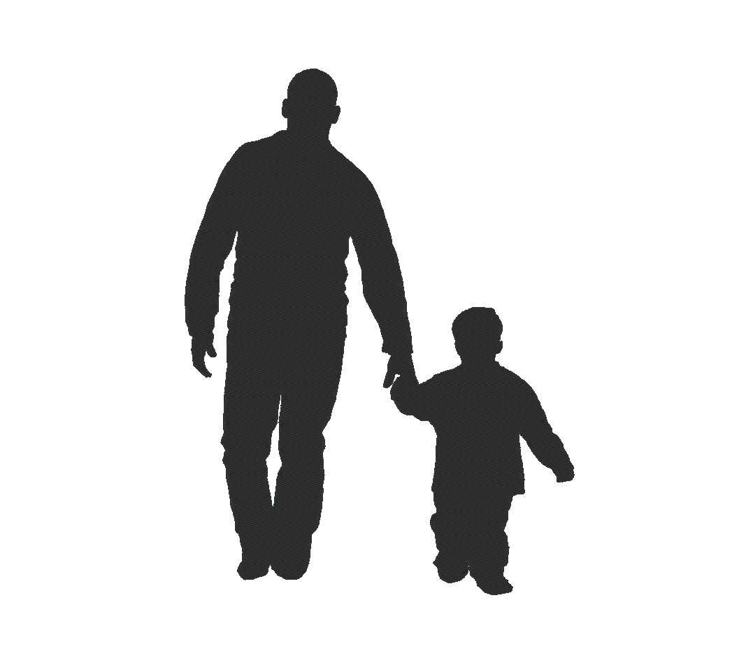 father silhouette fathers love stateland inc silhouette father