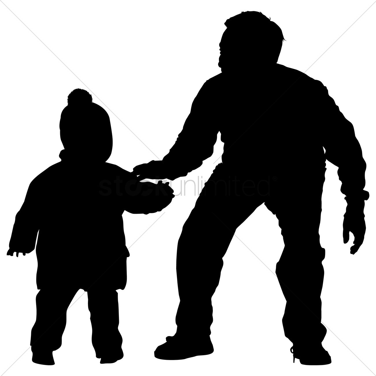 father silhouette silhouette of a father and son vector image 1463134 silhouette father