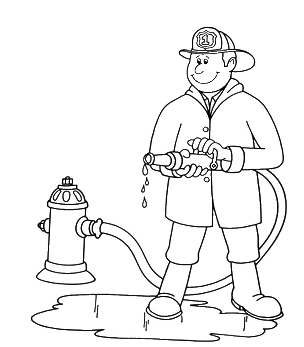 firefighter coloring page free printable fireman coloring pages cool2bkids firefighter coloring page