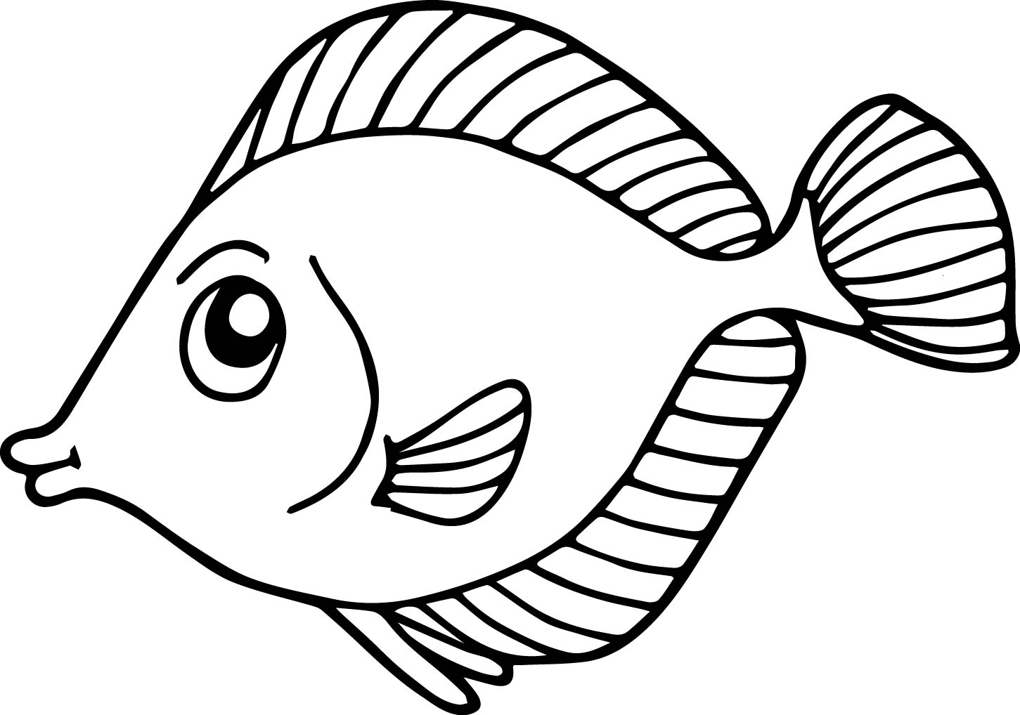 fish coloring print download cute and educative fish coloring pages fish coloring