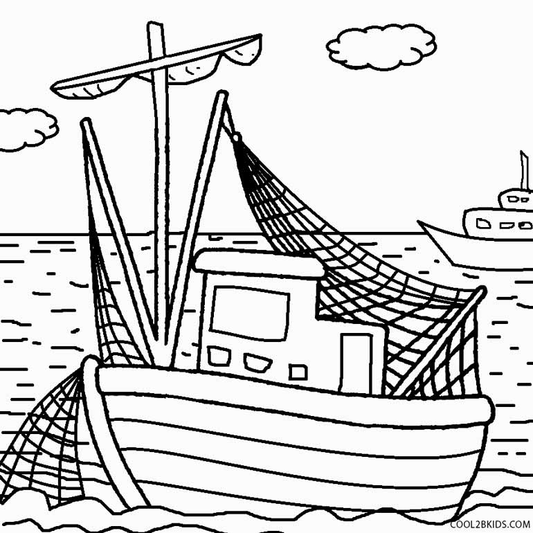 fishing boat coloring pages printable boat coloring pages for kids cool2bkids fishing coloring pages boat