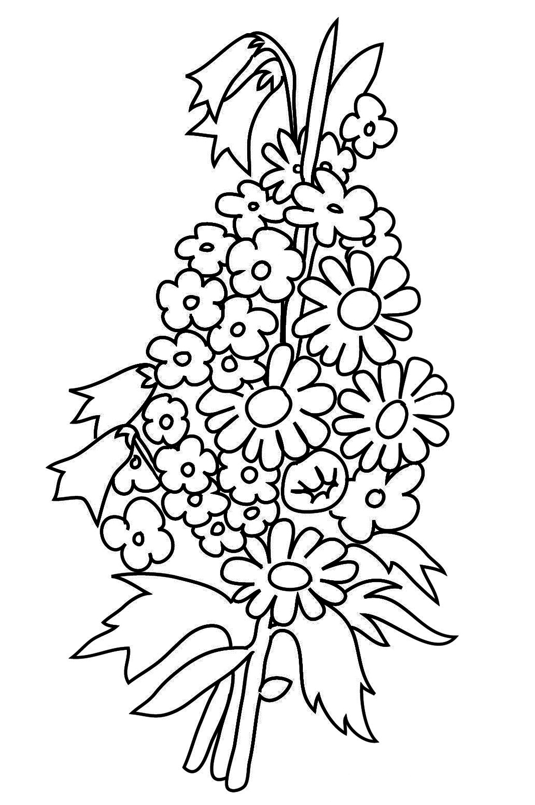 flower bouquet coloring pages bouquet of flowers coloring pages for childrens printable flower pages coloring bouquet